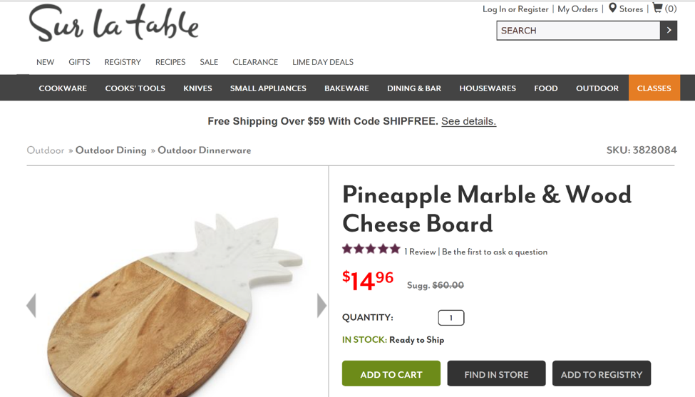 Sur La Table Pineapple